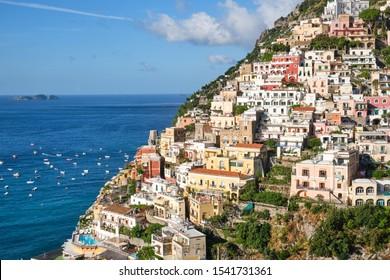 The famous houses of Positano on the italian Amalfi coast