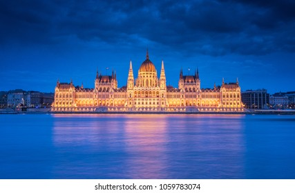 Famous Hungarian Parliament in dusk
