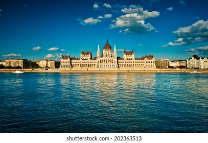 The famous Hungarian Parliament in Hungary