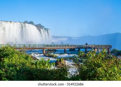 Famous Iguacu waterfalls in Barazil