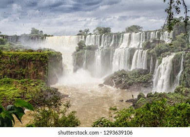 The famous Iguazu Falls on the border of Brazil and Argentina, South America