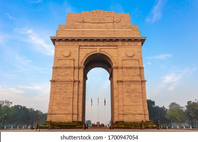 Famous India Gate in the city centre of New Delhi