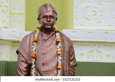 Famous Indian independence activist and leader against British colonial rule 'Netaji Subhas Chandra Bose' statue's top portion display at bagbazar, Kolkata, India.