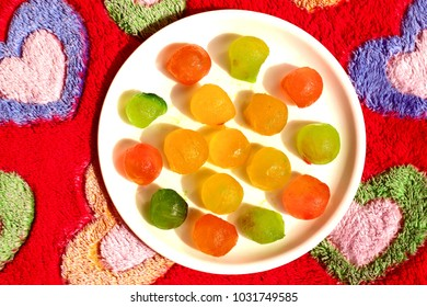 Famous Indian sweet  petha mithai of Agra made with pumpkin.