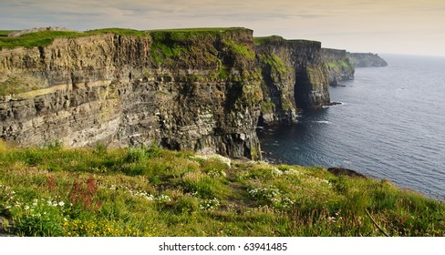 famous irish cliffs of moher landscape west coast ireland