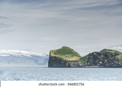 famous island with tiny house, Iceland