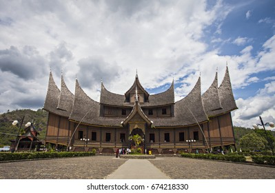 The Famous Istana Basa Pagar Ruyung, a Palace as a tourist destination in West Sumatera, Indonesia