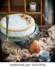 Famous italian pear and ricotta cake from Amalfi