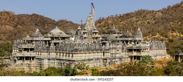 Famous Jain temple (Adinatha temple) in Ranakpur, Rajasthan, India