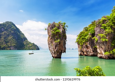 Famous James Bond island near Phuket in Thailand