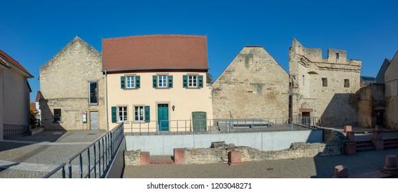 famous Kaiserpfalz in Ingelheim, Germany