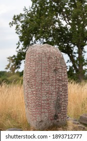 The famous Karlevi Runestone. It is one of the most notable and prominent runestones and constitutes the oldest record of a stanza of skaldic verse