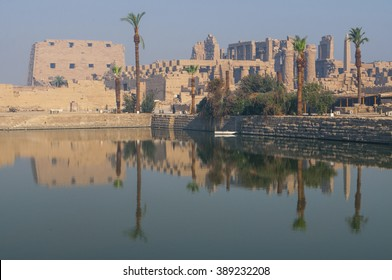 Famous Karnak temple complex of Amon Ra in Luxor, Egypt