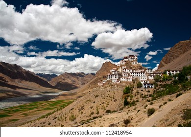 The famous Kee monastery in a picturesque setting in Spiti valley.
