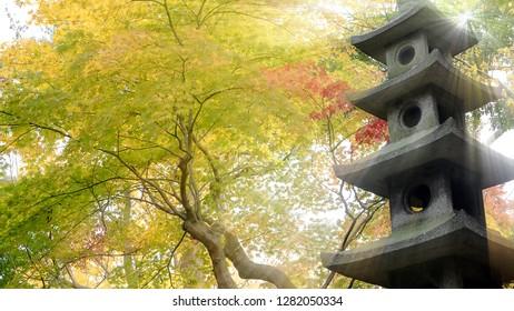 The Famous Kenroku-en garden in Kanazawa, Japan