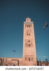 Famous Koutoubia Mosque in the Medina of Marrakesh