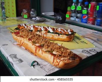 The famous Krakow sandwich called Zapiekanka
