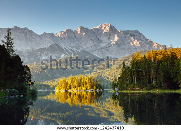 Famous Lake Eibsee Best Place On Stock Photo Edit Now 1242437410 Images, Photos, Reviews