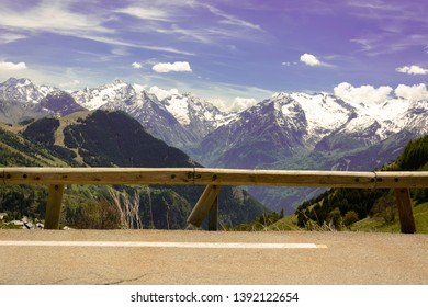 The famous l'Alpe d'Huez climb overlooking majestic mountain landscape