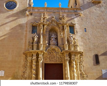 Famous landmark Basilica de Santa Maria, Saint Mary church Alicante Valencia Costa Blanca Spain