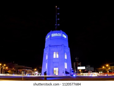 "Famous landmark from Campinas, SP/ Brazil known as ""Castelo"" - at night"