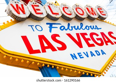Famous landmark at entrance of Las Vegas City