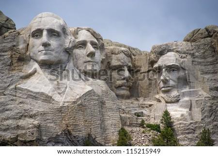 famous landmark mountain sculpture mount rushmore stock photo edit