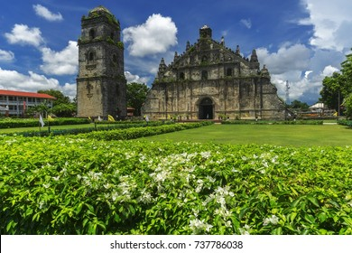 Famous landmark Paoay church found in Ilocos region in the Philippines