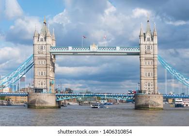 Famous landmark Tower Bridge in London, United Kingdom .