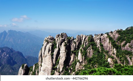 The famous landscape of Mount Huangshan