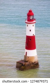 Famous Lighthouse at Beachy Head, Eastbourne Downland, South Downs National Park, England