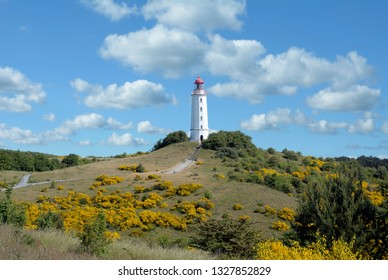 famous Lighthouse on Hiddensee at Baltic Sea,Mecklenburg western Pomerania,Germany