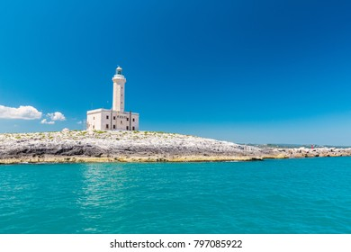 Famous lighthouse of Vieste in Apulia, south Italy