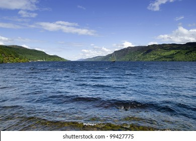 The famous Loch Ness in the scottish highlands.