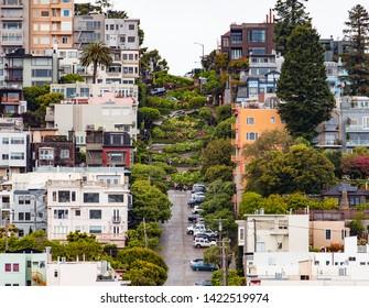 Famous Lombard Street, San Francisco, California, USA