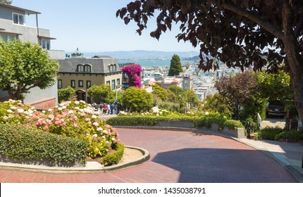 Famous Lombard street in San Francisco