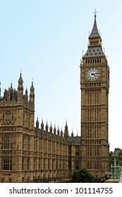 Famous London landmark Big Ben clock tower