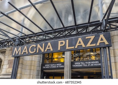 Famous Magna Plaza Shopping Mall in Amsterdam - AMSTERDAM / THE NETHERLANDS - JULY 20, 2017