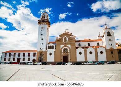 famous majestic Basilica de Candelaria church in Tenerife, Canary Islands, Spain