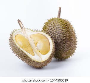 Famous Malaysian Durian, Musang King and D24, whole fruit and opened durian photos, high resolution and original colour, great for poster, website and packaging design.
