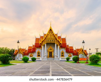 The famous marble temple, Bangkok, Thailand.