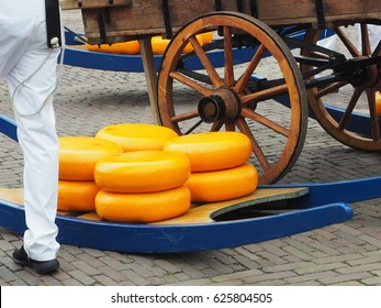 Famous market cheese on friday in Alkmaar