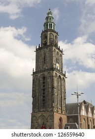 Famous Martinitower in Groningen in the Netherlands