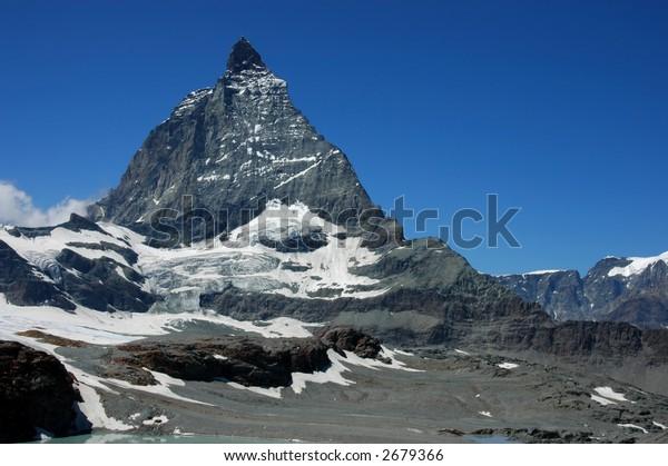 The famous Matterhorn, 4478 m, Switzerland/Italy