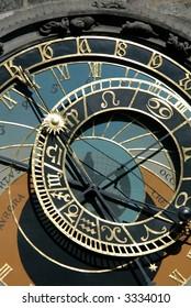 Famous medieval astronomical clock in Prague, Czech Republic - Shutterstock ID 3334010