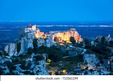 Famous medieval castle Les Baux-de-Provence, Provence, France