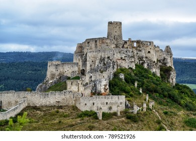 Famous medieval fortress Spissky Hrad in Slovakia
