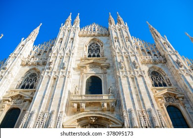 The famous Milan Cathedral (Duomo Di Milano) is located in northern Italy. It is one of the largest churches in the world and a big attraction for tourists from all over the world.