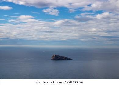 The famous Mirador de la Isla de Benidorm island in Benidorm Alicante in Spain.