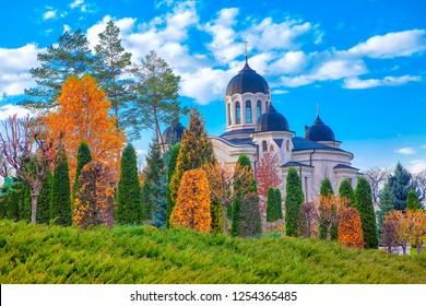 Famous Monastery Churchi from Moldova